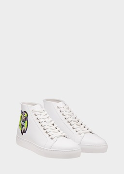Versace Rebel Lion High Top Leather Sneaker