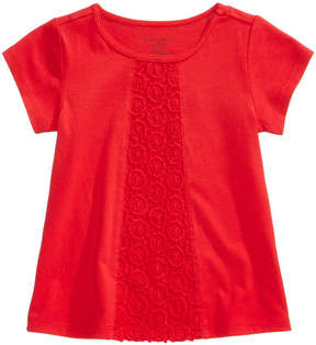 First Impressions Crochet-Detail Cotton T-Shirt, Baby Girls (0-24 months), Created for Macy's