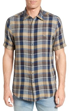 Rodd & Gunn Men's Pavillion Plaid Linen Sport Shirt