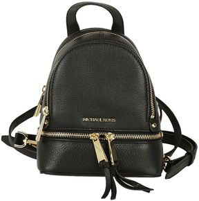 MICHAEL Michael Kors Rhea Zip Extra Small Messenger Backpack - NERO/ORO - STYLE
