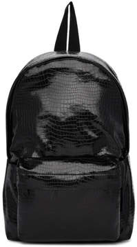 Comme des Garcons Black Small Croc Faux-Leather Backpack