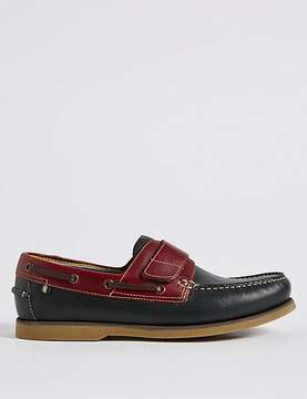 Marks and Spencer Leather Riptape Boat Shoes