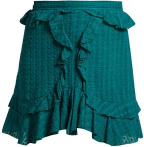 Etoile Isabel Marant Yugi ruffle-trimmed cotton mini skirt