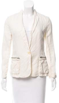Brochu Walker Linen Notched Lapel Blazer