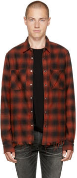 Amiri Red Check Core Flannel Shirt