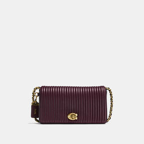 COACH Coach Dinky With Qulting - BRASS/OXBLOOD - STYLE