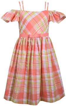 Bonnie Jean Short Sleeve Shirt Dress - Preschool Girls