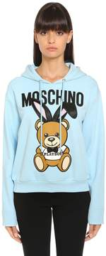 Moschino Playboy Bear Hooded Cotton Sweatshirt