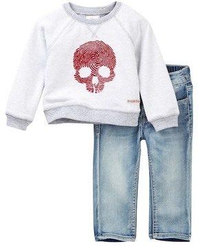 Hudson Reversible French Terry Pullover Set (Baby Boys)