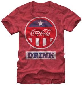Fifth Sun Heather Red Patriotic Cap Coca-Cola Tee - Men