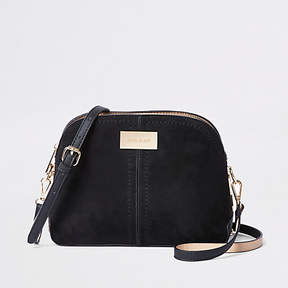 River Island Black textured kettle cross body bag