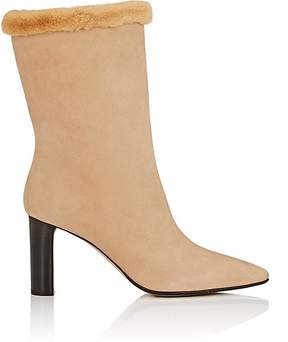 The Row Women's Emil Suede Mid-Calf Boots