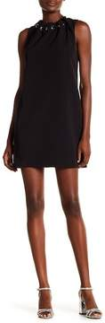 Laundry by Shelli Segal Sleeveless Grommet Lace-Up Dress