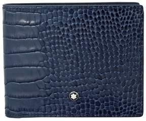 Montblanc Meisterstuck Indigo Embossed Leather Wallet
