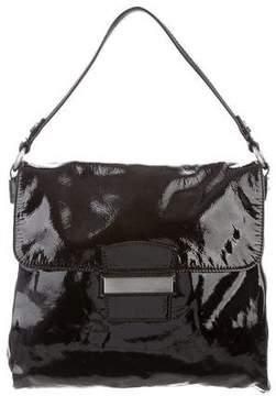 Max Mara Patent Leather Flap Bag