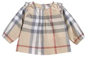 Burberry Neela Check Print Cotton Tunic