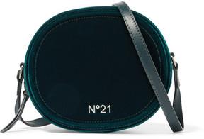 No. 21 - Velvet And Leather Shoulder Bag - Green