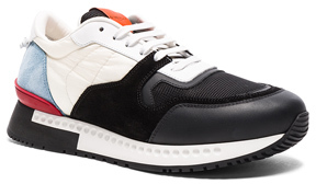 Givenchy Runner Active Nylon Sneakers in Black,White,Blue.