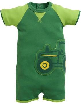John Deere Baby Boy Embroidered Tractor Romper