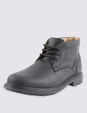 Marks and Spencer Leather Lace-up Gibson Chukka Boots