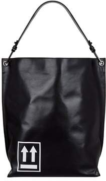 Off-White Off White Leather Arrow Tote Bag