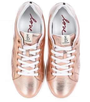 ED Ellen Degeneres Chapunto Metallic Leather Sneakers