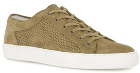 Topman Tan Suede Circle Print Trainers