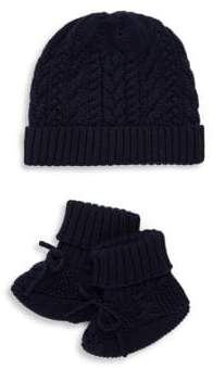 Ralph Lauren Baby's Two-Piece Hat & Booties Set