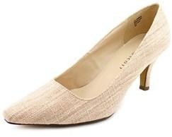 Karen Scott Clancy Women Pointed Toe Canvas Pink Heels.