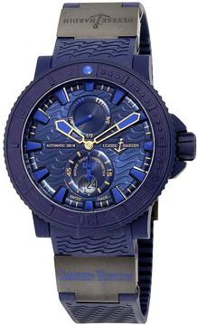 Ulysse Nardin Marine Diver Blue Ocean Automatic Blue Dial Blue Rubber Men's Watch