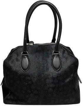 Alaia Black Pony-style calfskin Handbag