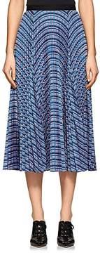 Derek Lam Women's Striped Pleated Midi-Skirt