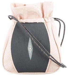 Khirma Eliazov Python & Stingray Shoulder Bag