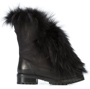 Sartore fur panel boots