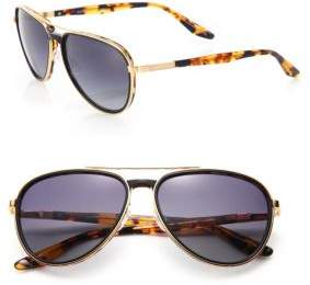 Barton Perreira Gazarri 60MM Tortoise Polarized Aviator Eyeglasses