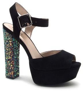 Qupid Beat One Band Ankle Strap Platform