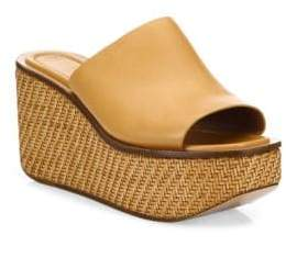 Michael Kors Jane Leather Wedge Platform Sandals
