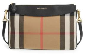 Burberry 'Peyton - House Check' Crossbody Bag - Black