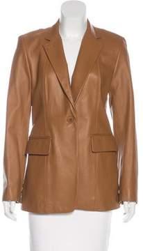 DKNY Short Leather Coat