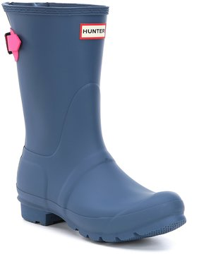 Hunter Short Adjustable Buckle Matte Rain Boots