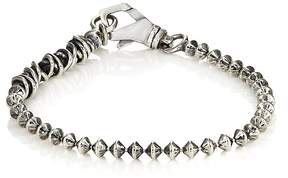 Emanuele Bicocchi Men's Spin-Top-Shaped Ball-Chain Bracelet