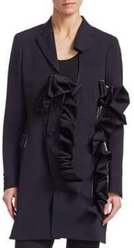 Comme des Garcons Asymmetrical Wool Gaberdine Blazer