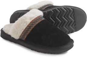 Muk Luks Dawn Scuff Slippers - Suede, Wool-Blend Lined (For Women)