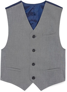 Izod Sharkskin Suit Vest - Boys 8-20