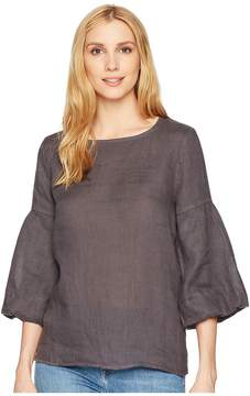 Allen Allen 3/4 Lantern Sleeve Top Women's Long Sleeve Pullover