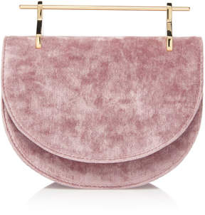 M2Malletier Velvet Mini Halfmoon Bag