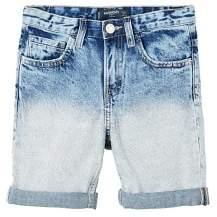 MANGO Light wash denim bermuda shorts