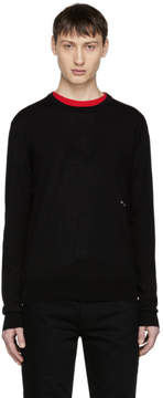 Calvin Klein Black Small Embroidered Logo Sweater