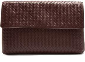 Bottega Veneta Intrecciato front-flap leather document holder