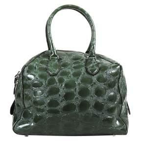 Alaia Green Patent leather Handbag